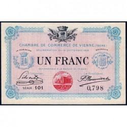 Vienne (Isère) - Pirot 128-5 - Série 101 - 1 franc - 14/09/1915 - ETAT : pr.NEUF