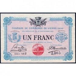 Vienne (Isère) - Pirot 128-5 - Série 117 - 1 franc - 14/09/1915 - ETAT : SPL