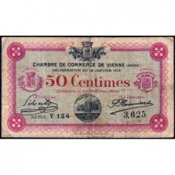 Vienne (Isère) - Pirot 128-9 - 50 centimes - Série Y 124 - 18/01/1916 - ETAT : B+