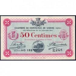 Vienne (Isère) - Pirot 128-11 - 50 centimes - Série AG 132 - 18/01/1916 - ETAT : SPL