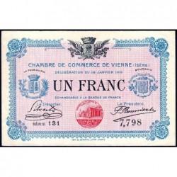 Vienne (Isère) - Pirot 128-12 - 1 franc - Série 131 - 18/01/1916 - ETAT : SPL