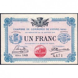 Vienne (Isère) - Pirot 128-12 - Série 143 - 1 franc - 18/01/1916 - ETAT : pr.NEUF