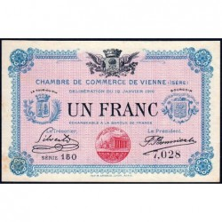 Vienne (Isère) - Pirot 128-12 - Série 150 - 1 franc - 18/01/1916 - ETAT : SUP+