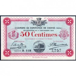 Vienne (Isère) - Pirot 128-15 - 50 centimes - Série R 118 - 11/09/1916 - ETAT : NEUF