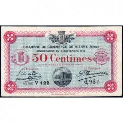 Vienne (Isère) - Pirot 128-15 - Série V 122 - 50 centimes - 11/09/1916 - ETAT : TB+