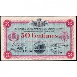 Vienne (Isère) - Pirot 128-16 - 50 centimes - Série AP 141 - 11/09/1916 - ETAT : TTB+