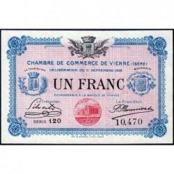 Vienne (Isère) - Pirot 128-18 - 1 franc - Série 120 - 11/09/1916 - ETAT : pr.NEUF
