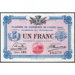 Vienne (Isère) - Pirot 128-18 - Série 120 - 1 franc - 11/09/1916 - ETAT : pr.NEUF