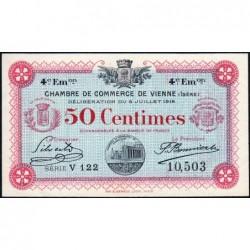Vienne (Isère) - Pirot 128-20 - 50 centimes - Série V 122 - 4e émission - 08/07/1918 - ETAT : SPL