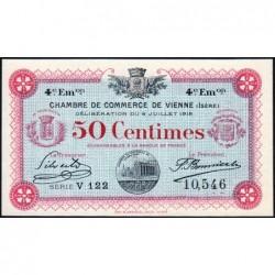Vienne (Isère) - Pirot 128-20 - 50 centimes - Série V 122 - 4e émission - 08/07/1918 - ETAT : NEUF
