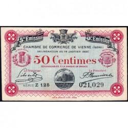 Vienne (Isère) - Pirot 128-25 - 50 centimes - Série Z 125 - 5e émission - 14/01/1920 - ETAT : SUP+