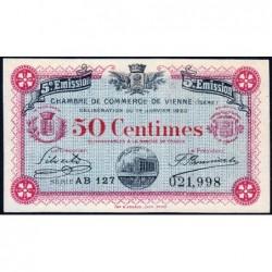 Vienne (Isère) - Pirot 128-26 - 50 centimes - Série AB 127 - 5e émission - 14/01/1920 - ETAT : SUP