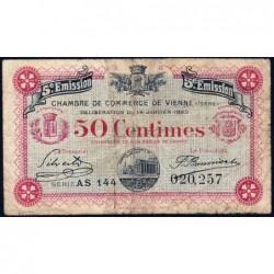 Vienne (Isère) - Pirot 128-26 - 50 centimes - Série AS 144 - 5e émission - 14/01/1920 - ETAT : B+