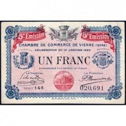 Vienne (Isère) - Pirot 128-27 - Série 146 - 1 franc - 5e émission - 14/01/1920 - ETAT : TTB