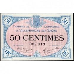 Villefranche-sur-Saône - Pirot 129-1 - 50 centimes - 02/12/1915 - ETAT : SUP+