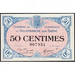Villefranche-sur-Saône - Pirot 129-1 - 50 centimes - 02/12/1915 - ETAT : pr.NEUF