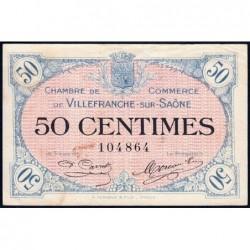 Villefranche-sur-Saône - Pirot 129-1 - 50 centimes - 02/12/1915 - ETAT : TTB