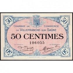 Villefranche-sur-Saône - Pirot 129-1 - 50 centimes - 02/12/1915 - ETAT : SPL