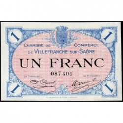 Villefranche-sur-Saône - Pirot 129-4 - 1 franc - 02/12/1915 - ETAT : SPL