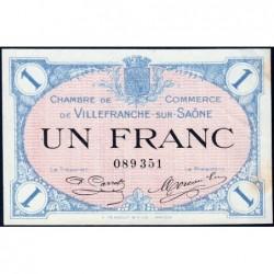 Villefranche-sur-Saône - Pirot 129-4 - 1 franc - 02/12/1915 - ETAT : SUP