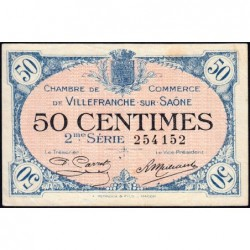 Villefranche-sur-Saône - Pirot 129-7 - 50 centimes - 2me Série - 30/06/1918 - ETAT : TTB