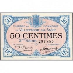 Villefranche-sur-Saône - Pirot 129-7 - 50 centimes - 2me Série - 30/06/1918 - ETAT : SPL