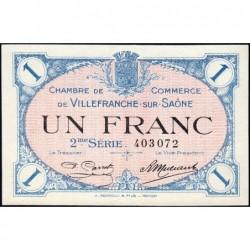 Villefranche-sur-Saône - Pirot 129-9 - 1 franc - 2me Série - 30/06/1918 - ETAT : SPL