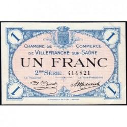 Villefranche-sur-Saône - Pirot 129-9 - 1 franc - 2me Série - 30/06/1918 - ETAT : SUP