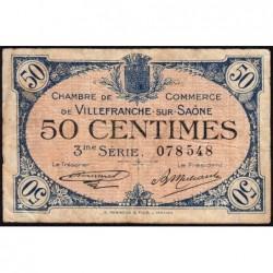 Villefranche-sur-Saône - Pirot 129-11 - 50 centimes - 3me Série - 30/04/1920 - ETAT : TB-