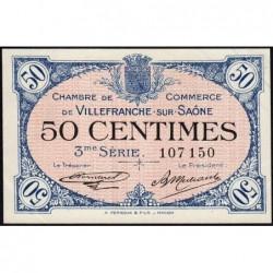 Villefranche-sur-Saône - Pirot 129-11 - 50 centimes - 3me Série - 30/04/1920 - ETAT : SUP+
