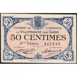 Villefranche-sur-Saône - Pirot 129-11 - 50 centimes - 3me Série - 30/04/1920 - ETAT : TTB+