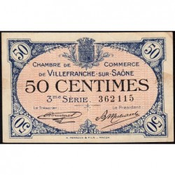 Villefranche-sur-Saône - Pirot 129-11 - 50 centimes - 3me Série - 30/04/1920 - ETAT : TTB