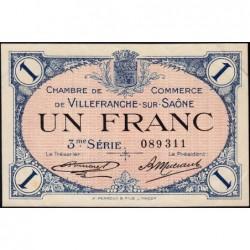 Villefranche-sur-Saône - Pirot 129-13 - 1 franc - 3me Série - 30/04/1920 - ETAT : SUP+