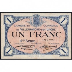 Villefranche-sur-Saône - Pirot 129-17 - 1 franc - 4me Série - 30/09/1921 - ETAT : TTB
