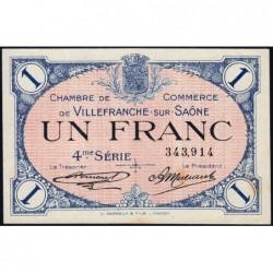 Villefranche-sur-Saône - Pirot 129-17 - 1 franc - 4me Série - 30/09/1921 - ETAT : SUP+