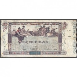 F 43-01 - 02/01/1918 (première date) - 5000 francs - Flameng - Etat : TB-