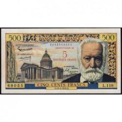 F 52-02 - 12/02/1959 - 5 nouv. francs sur 500 francs - Série L.118 - Victor Hugo - Etat : TTB+