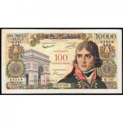 F 55-01 - 30/10/1958 - 100 nouv. francs sur 10000 francs - Bonaparte - Série M.147 - Etat : TB