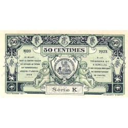 Aurillac (Cantal) - Pirot 16-14b - Série K - 50 centimes - 1920 - Etat : SUP