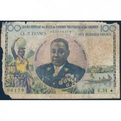 Cameroun - Afrique Equatoriale - Pick 1e - 100 francs - Série E.34 - 1961 - Etat : AB-