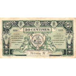 Aurillac (Cantal) - Pirot 16-14b - Série N - 50 centimes - 1920 - Etat : TB+