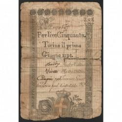 Royaume de Sardaigne - Pick S 118_4 - 50 livres - Juin 1794 - Etat : B