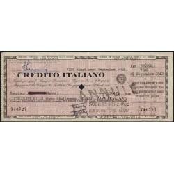 Italie - France - Chèque de voyage - Crédito Italiano - 50'000 lire - 1962 - Etat : SUP