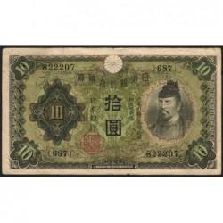 Japon - Pick 40a - 10 yen - Série 687 - 1930 - Etat : TB+