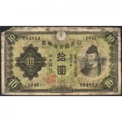 Japon - Pick 40a - 10 yen - 1930 - Etat : B-