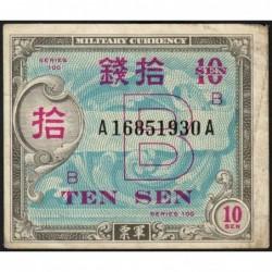 Japon - Occcupation alliée - Pick 63 - 10 sen - Série 100 B / AA - 1945 - Etat : TTB-