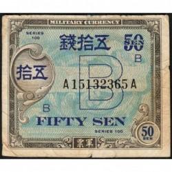 Japon - Occcupation alliée - Pick 65 - 50 sen - Série B / AA - 1945 - Etat : TB