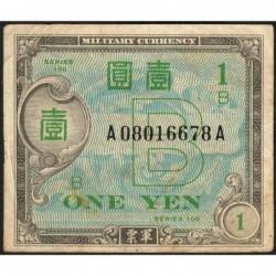 Japon - Occcupation alliée - Pick 67a - 1 yen - Série 100 B / AA - 1945 - Etat : TB+