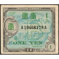 Japon - Occcupation alliée - Pick 67a - 1 yen - Série 100 B / AA - 1945 - Etat : TTB-