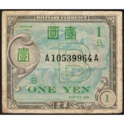 Japon - Occcupation alliée - Pick 67a - 1 yen - Série 100 B / AA - 1945 - Etat : TB